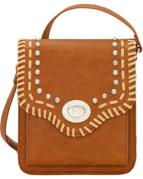 Bandana by American West Los Alamos Crossbody Wallet Flap Bag, Tan, hi-res