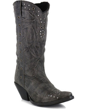 Durango Women's Crush Punk Studded Western Boots - Snip Toe, Black, hi-res