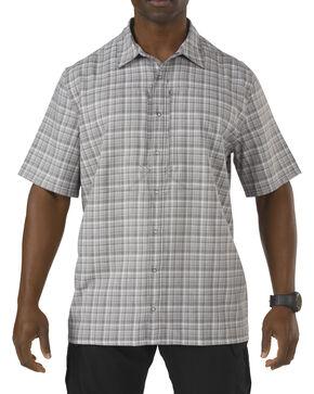 5.11 Tactical Covert Performance Short Sleeve Shirt, Grey Plaid, hi-res
