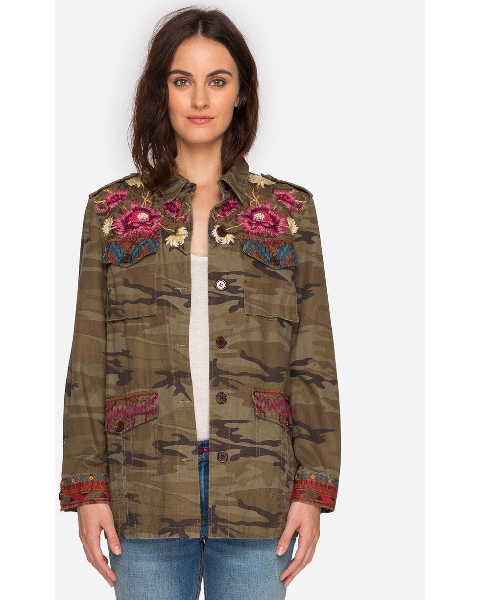 Johnny Was Women's Camo Rialto Military Jacket , Camouflage, hi-res