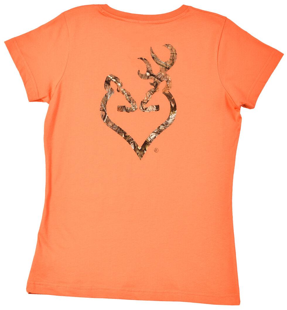 Browning Women's Orange Mo Country Buckmark T-Shirt , Orange, hi-res