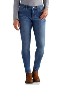 Carhartt Women's Slim Fit Layton Skinny Leg Jeans, Indigo, hi-res