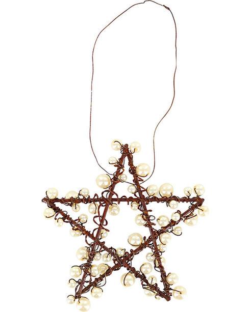 BB Ranch Metal Wire & Pearl Star Ornament, No Color, hi-res