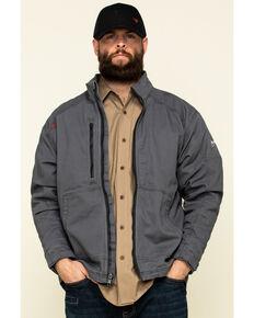 Ariat Men's Iron Grey FR Duralight Stretch Canvas Field Work Jacket, Steel, hi-res