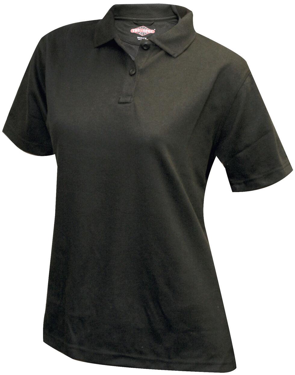 Tru-Spec Women's 24-7 Short Sleeve Performance Polo Shirt - Extra Large Sizes, Black, hi-res
