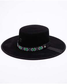 Charlie 1 Horse Women's Black Desert Daze Western Wool Hat , Black, hi-res