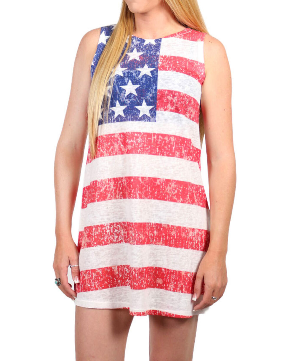 Moa Moa Women's American Flag Dress , Red/white/blue, hi-res