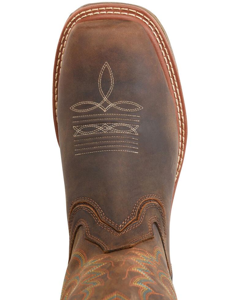 Double H Men's Brown Elijah Western Work Boots - Composite Toe, Brown, hi-res