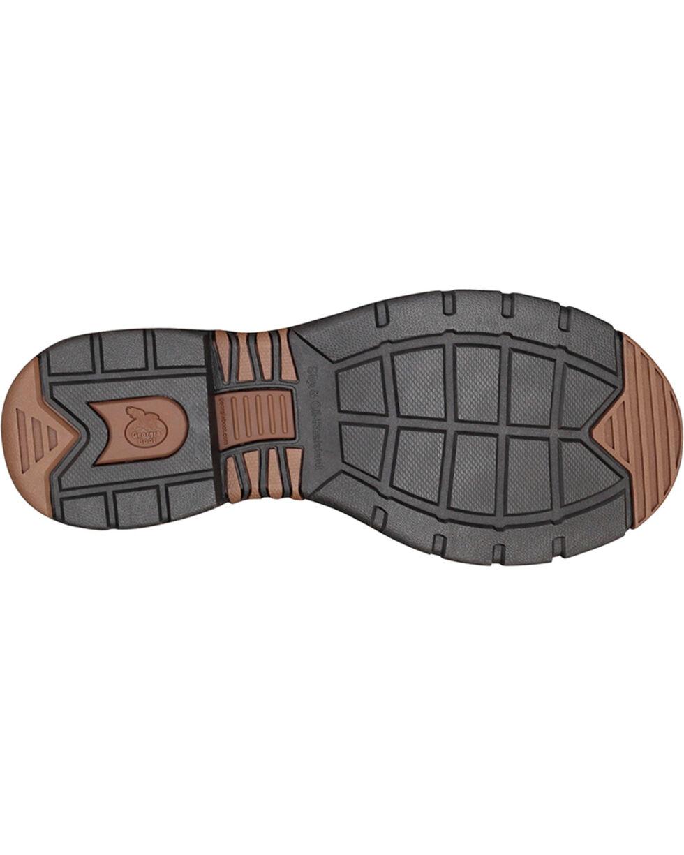Georgia Men's Athens Wellington Boots - Steel Toe , Brown, hi-res