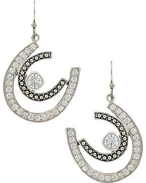 Montana Silversmiths Women's Vintage Charm Cherished Treasure Earrings, Silver, hi-res