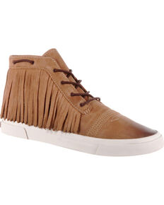 Durango Women's Brown Music City Fringe Lacer Sneakers , Brown, hi-res