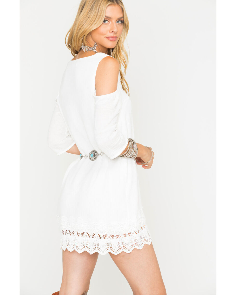 Jack Women's White Stefani Gauze Dress , White, hi-res