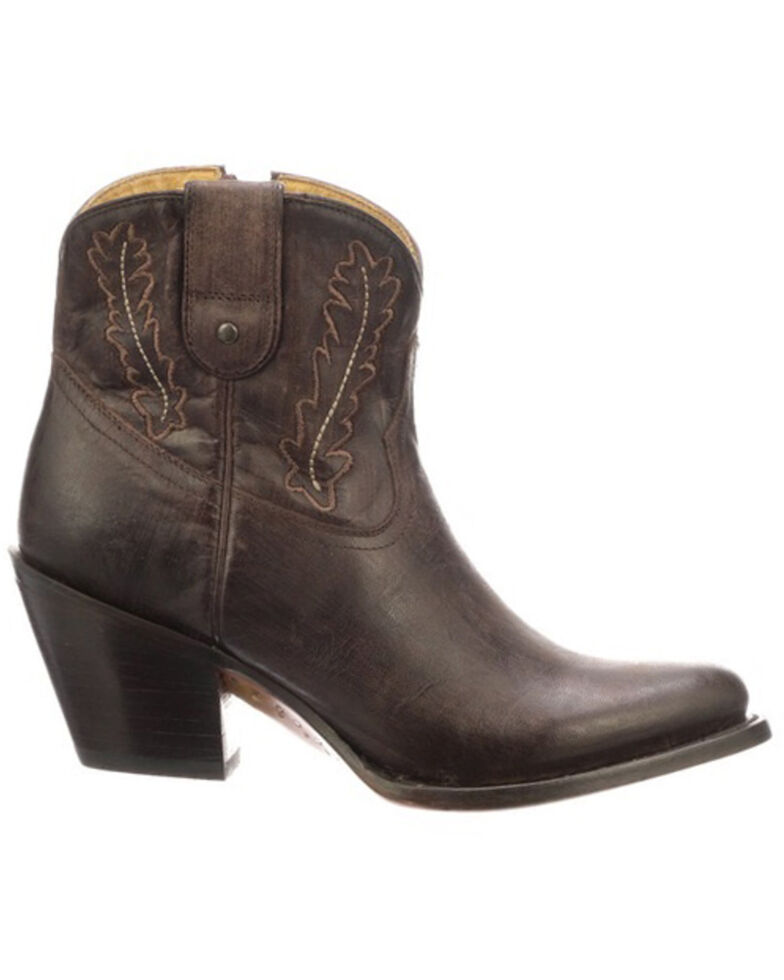 Lucchese Women's Wing Western Booties - Round Toe, Brown, hi-res
