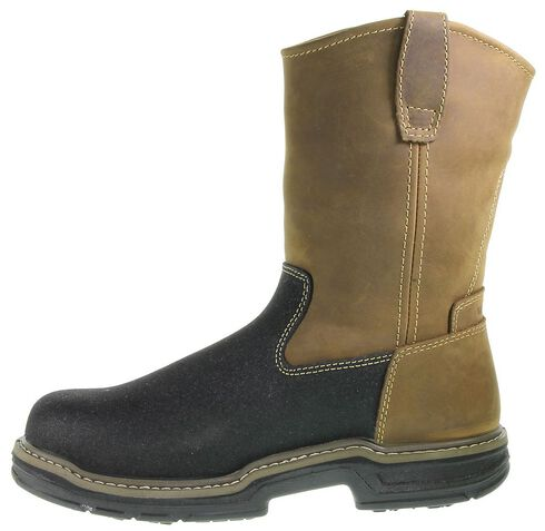 Wolverine Corsair Waterproof Pull-On Work Boots - Composite Toe, Brown, hi-res