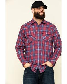 Ariat Men's FR Colquitt Retro Plaid Long Sleeve Work Shirt - Big , Red, hi-res