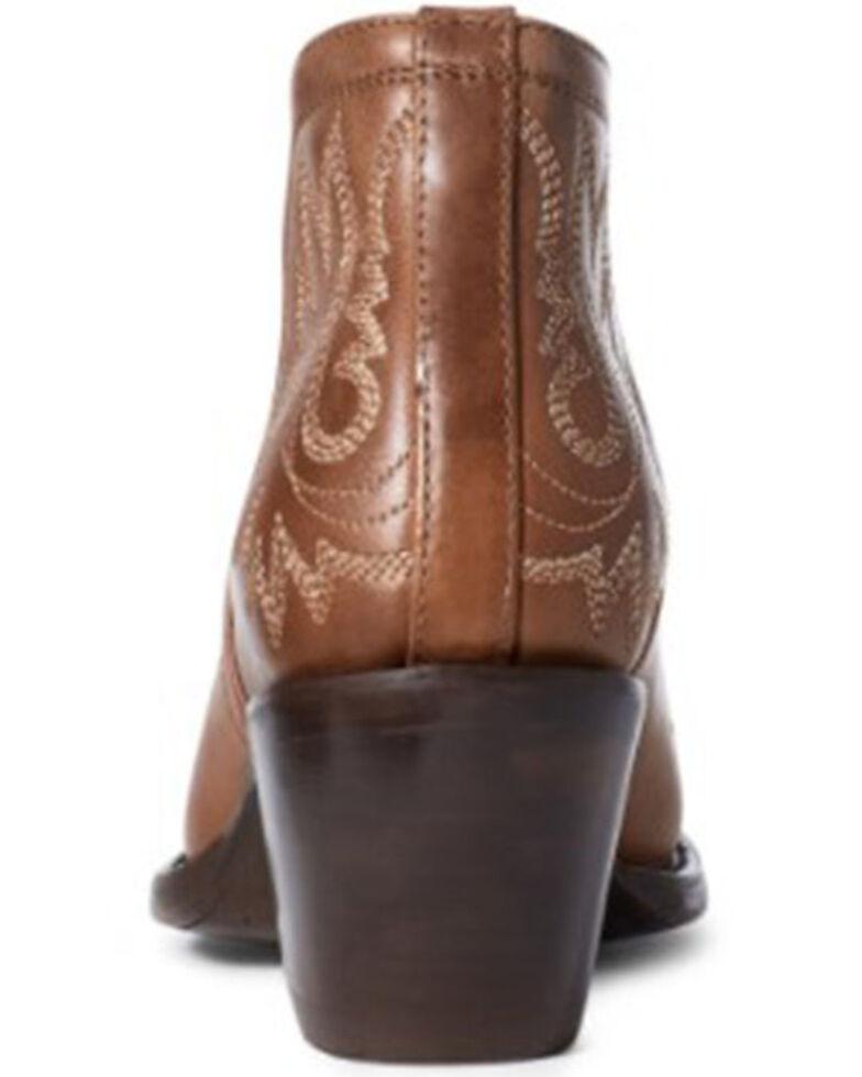 Ariat Women's Whiskey Dixon Fashion Booties - Round Toe, Brown, hi-res
