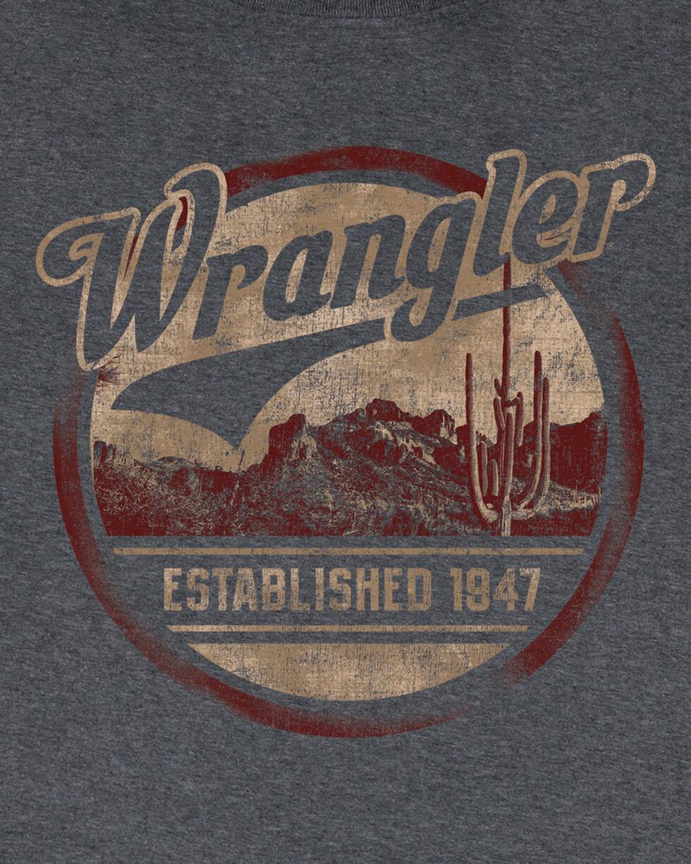 Wrangler Men's Charcoal Established 1947 Tee , Charcoal, hi-res