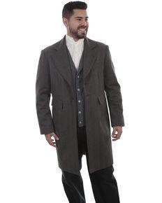Scully Men's Leather Old West Black Striped Frock Coat, Black, hi-res