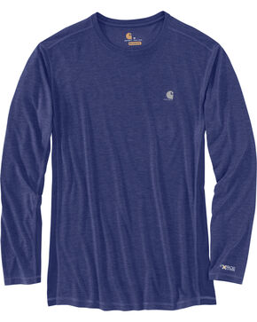 Carhartt Men's Blueprint Force Extremes Long Sleeve T-Shirt, Blue, hi-res
