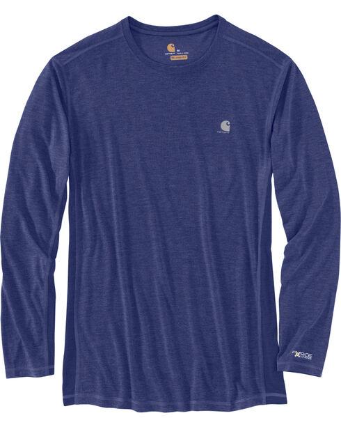 Carhartt Men's Blueprint Force Extremes Long Sleeve T-Shirt, Blue, hi-res