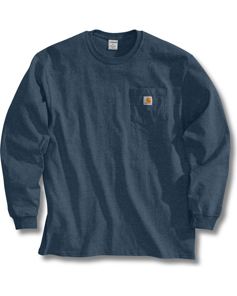 Carhartt Long Sleeve Pocket Work Shirt - Tall, Blue Stone, hi-res