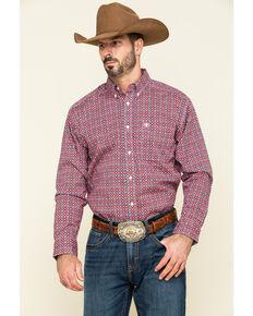 Ariat Men's Shasta Aztec Geo Print Long Sleeve Western Shirt - Tall , Multi, hi-res