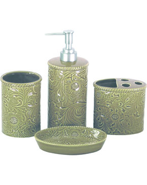 HiEnd Accent Four-Piece Savannah Bathroom Set, Taupe, hi-res