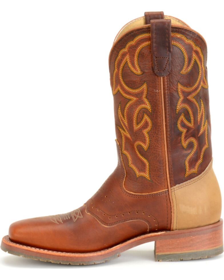 0374a3f140a Double H Men's Snakebite Saddle Vamp Western Boots - Square Toe