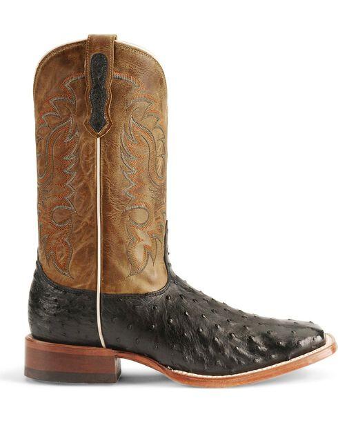 Nocona Men's Full Quill Ostrich Boots - Square Toe, Black, hi-res