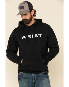 Ariat Men's Angle USA Graphic Fleece Hooded Sweatshirt , Black, hi-res