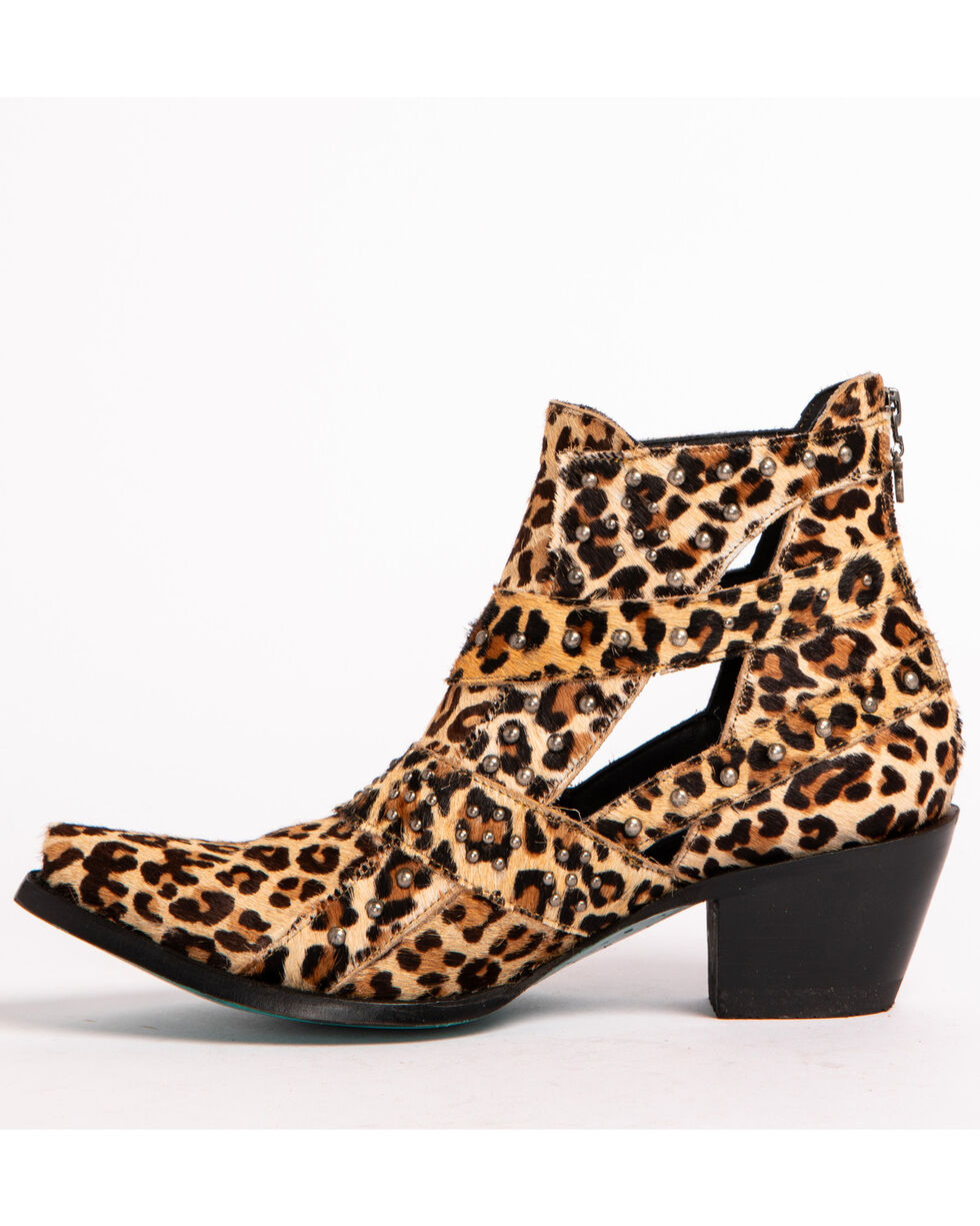 Lane Women's Studs & Straps Cheetah Booties - Snip Toe , Cheetah, hi-res