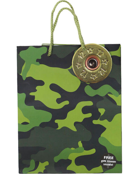 BB Ranch Small Camo Print Gift Bag, Camouflage, hi-res