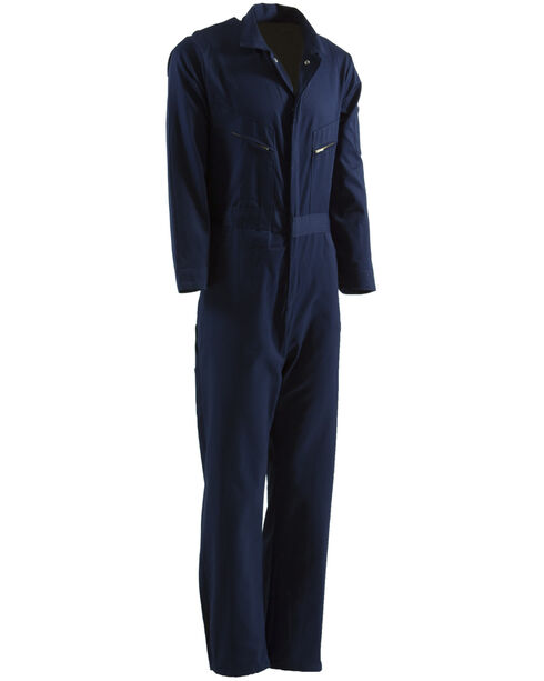 Berne Navy Deluxe Unlined Coverall - Short 2XL, Navy, hi-res