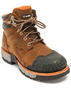 Hawx® Men's Legion Work Boots - Round Toe, Brown, hi-res