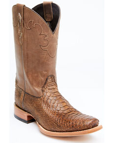 Cody James Men's Python Western Boots - Square Toe, Brown, hi-res