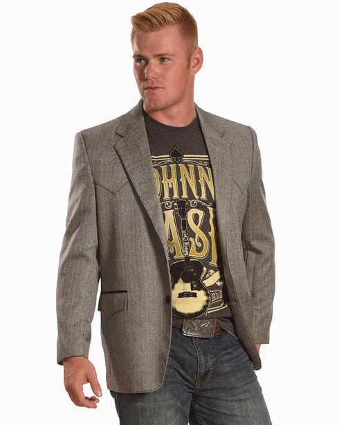Circle S Men's Grey Herringbone Lubbock Sport Coat - Big, Grey, hi-res