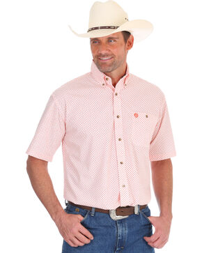 Wrangler Men's Peach George Strait Medallion Print Shirt - Tall, White, hi-res