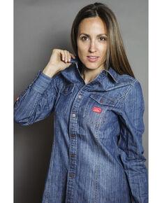 Kimes Ranch Women's Zorro Denim Shirt, Indigo, hi-res
