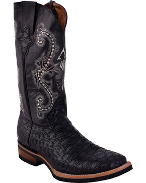 Ferrini Men's Anteater Print Cowboy Boots - Square Toe, Black, hi-res