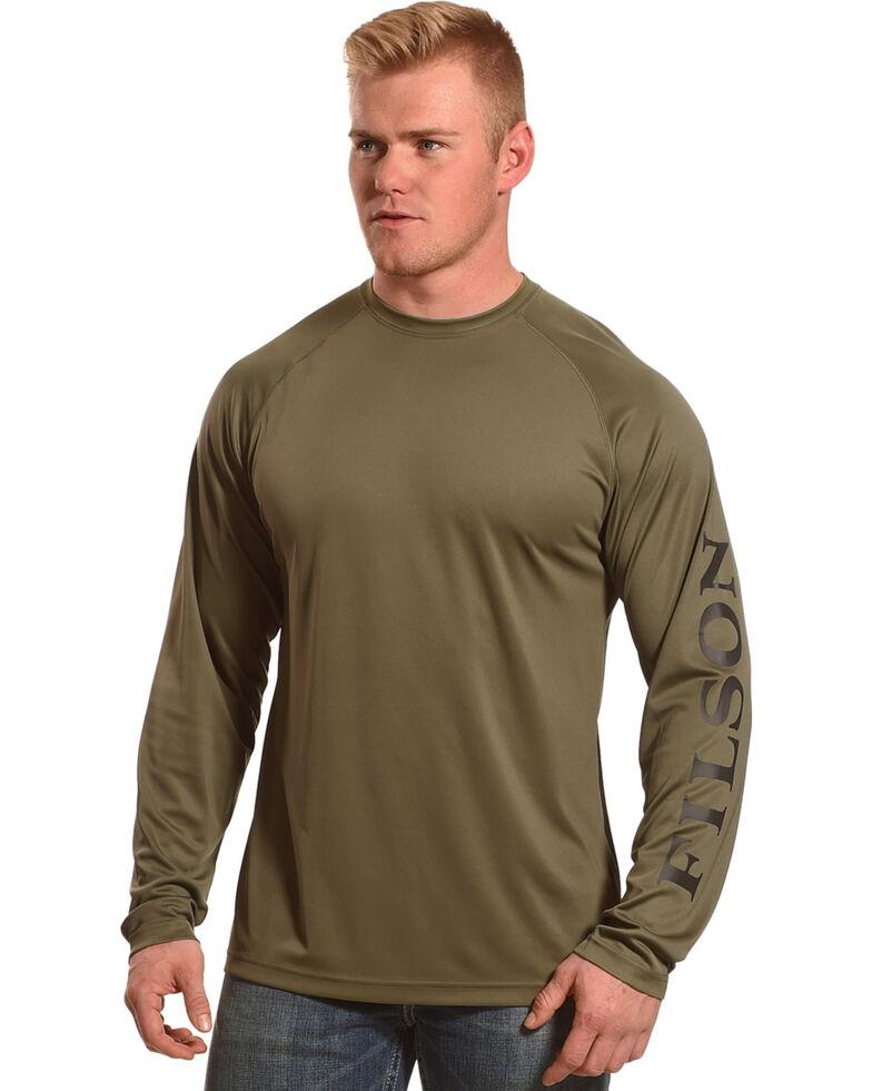 Filson Men s Olive Green Barrier Long Sleeve T-Shirt  f4d373a782b