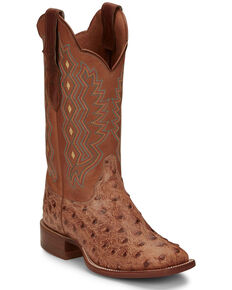 Justin Women's Magnolia Brandy Western Boots - Narrow Square Toe, Brown, hi-res