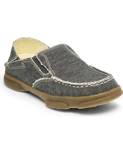 Tony Lama Boys' Georgetown Canvas Shoe , Black, hi-res