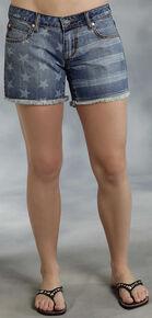 Roper Denim Boyfriend Star Print Shorts, Denim, hi-res