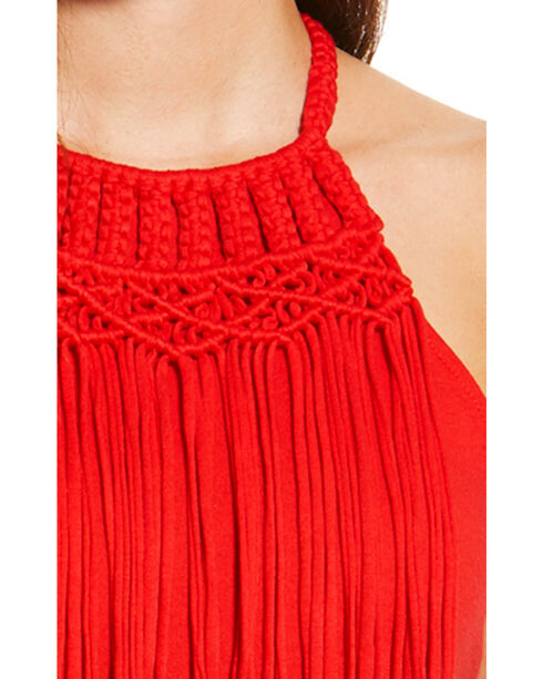 Ariat Women's Red Fringe Tank , Red, hi-res