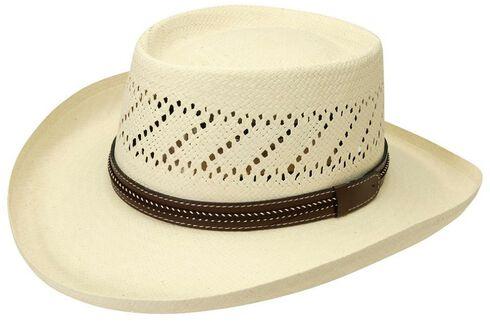 Black Creek Gambler Straw Hat, Ivory, hi-res
