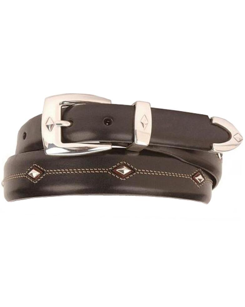 Denver Diamond-Shaped Stud Belt, Black, hi-res