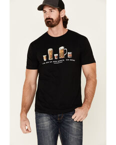 Moonshine Spirit Men's Black Line Em Up Graphic T-Shirt , Black, hi-res