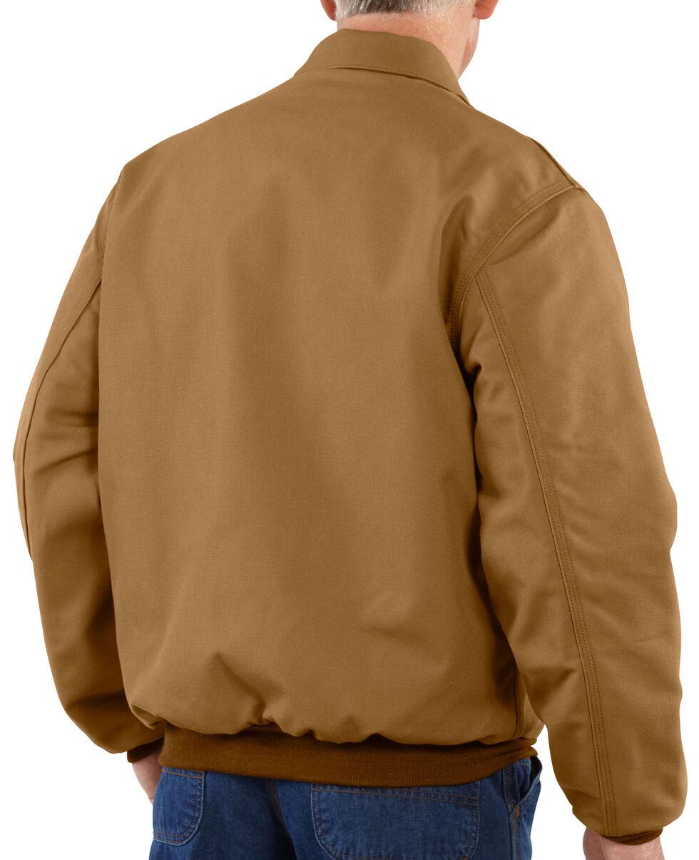 Carhartt Men's Flame-Resistant Duck Bomber Jacket, Carhartt Brown, hi-res