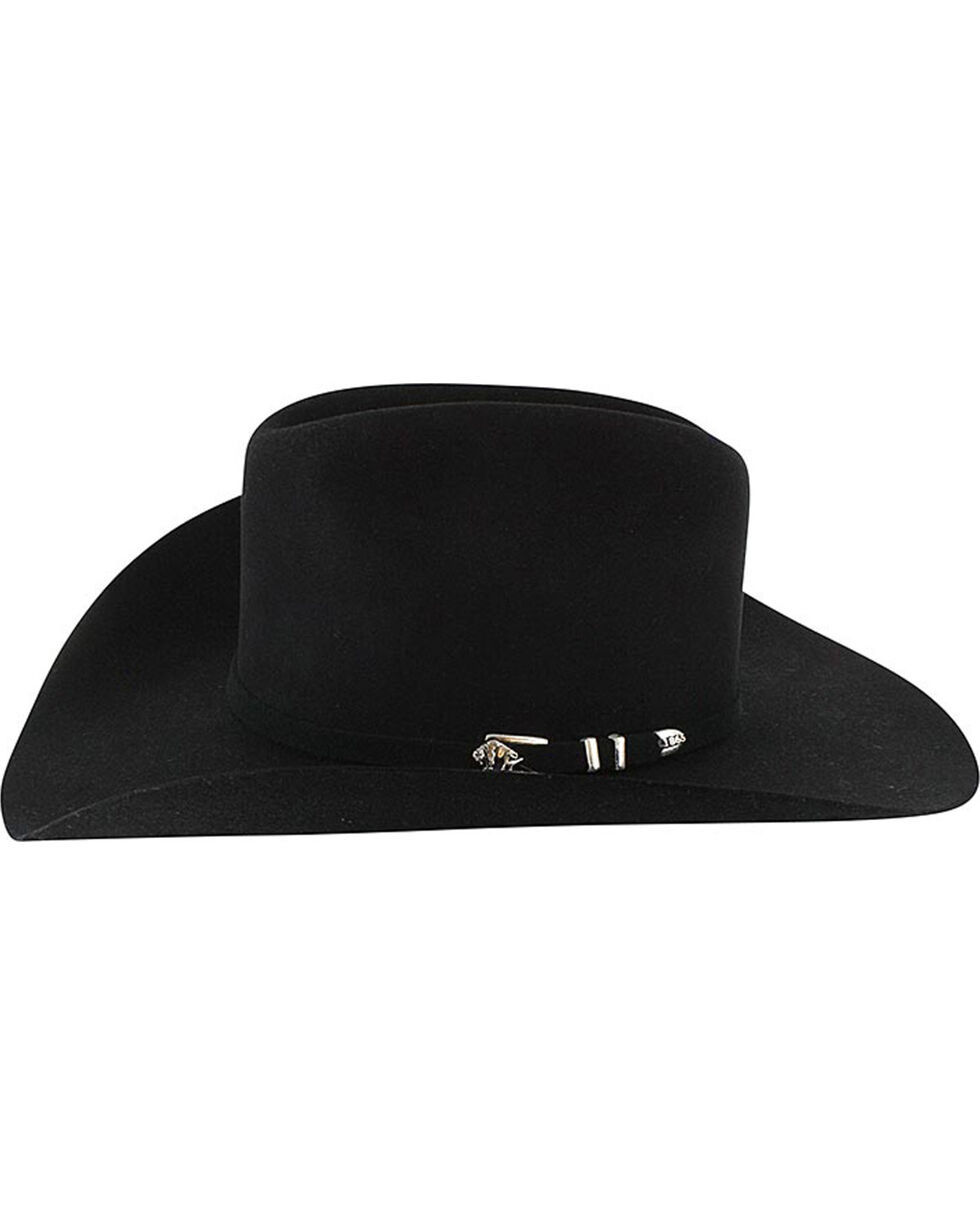 Stetson Men's Apache 4X Buffalo Felt Hat, Black, hi-res