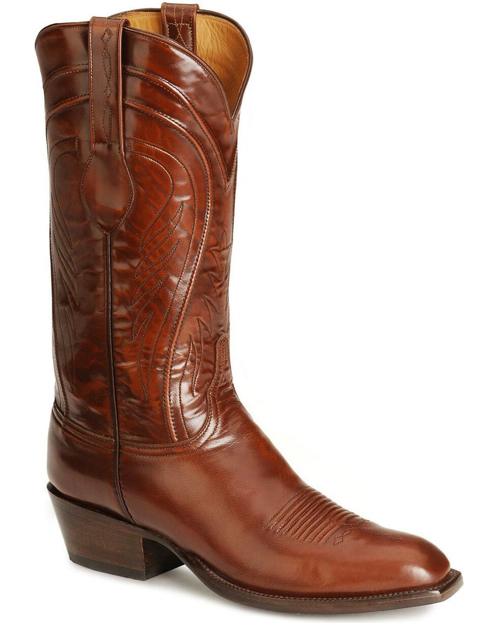 Lucchese Handmade Classics Seville Goatskin Boots - Square Toe, Tan, hi-res